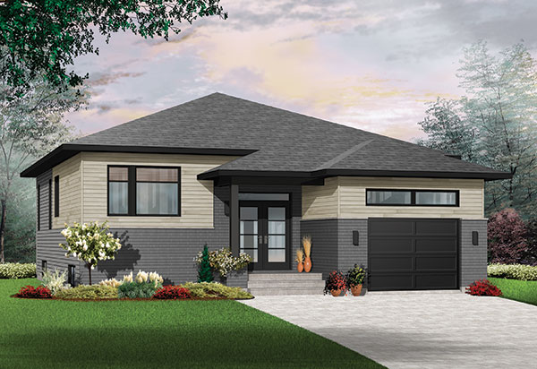 Modern One Story House Plan