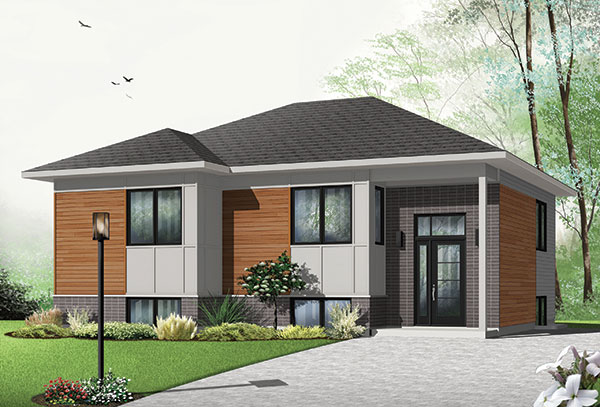 Contemporary two bedroom house plan for Modern 2 bedroom home designs