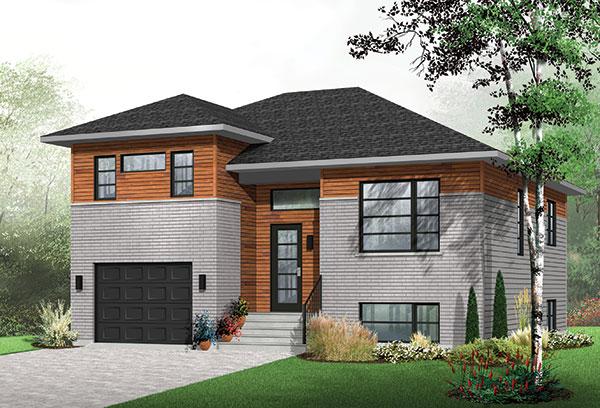 Modern Three Bedroom House Plan