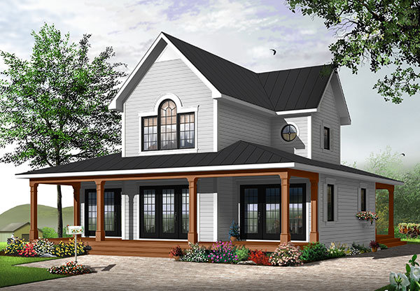 Edgewater 9845 3 bedrooms and 2 baths the house designers - Couleur de maison ...