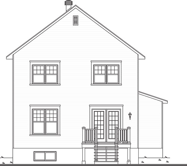 Two story farm house plan for The willow house plan