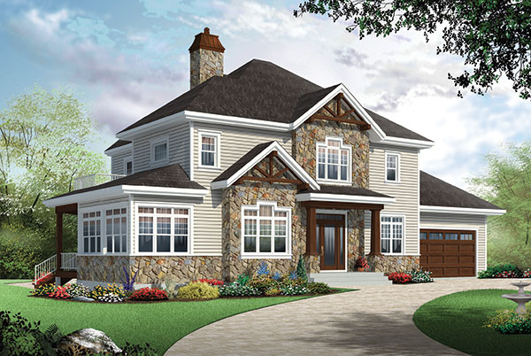 Two story farm house plan for Farmhouse two story house plans