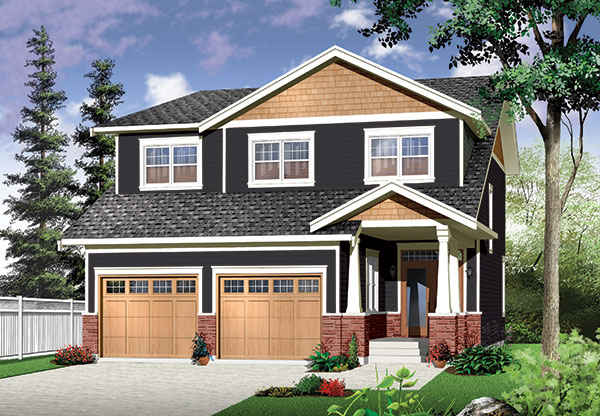 Craftsman house design with four bedrooms for 4 bedroom craftsman house plans
