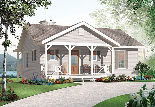 Three bedroom cottage house plan for Maison laprise