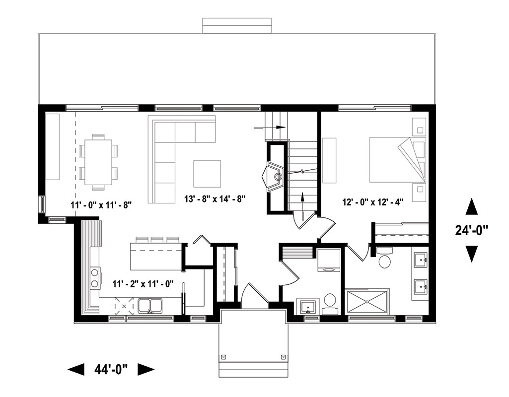 Magnolia House Bedroom And Bath The House Designers - Floor plan for house 2
