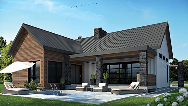 Front Elevation Cottage : Two bedroom cottage house plan