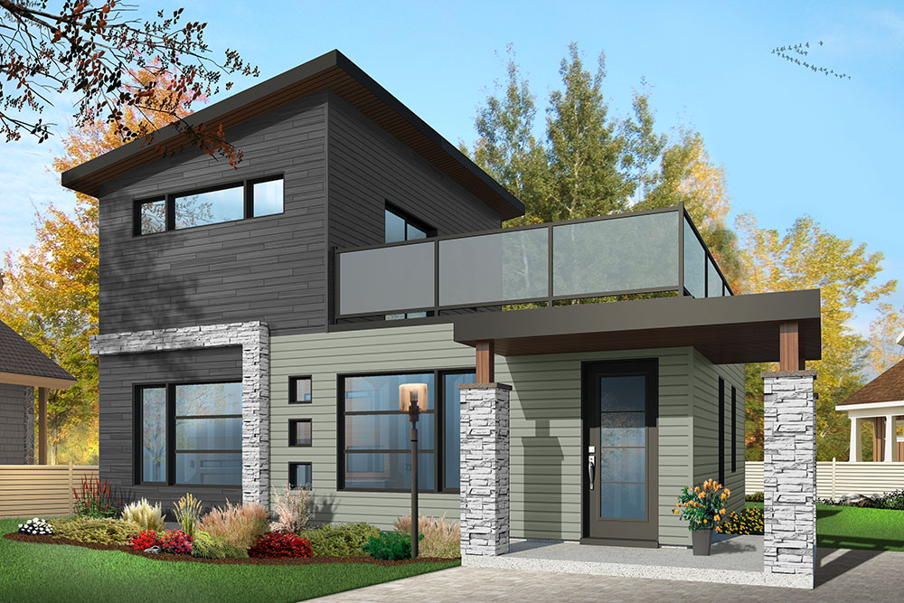 17033 - 38+ Front Design Of Small House 2Nd Floor  Pics