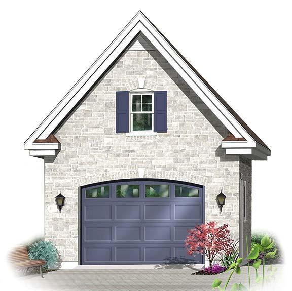 Beautiful garage boasts versatile bonus area for Colonial garage plans