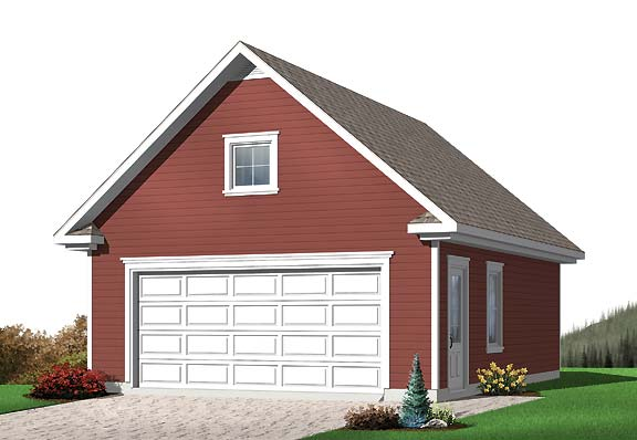 Two car garage with room for a truck for 2 bay garage plans