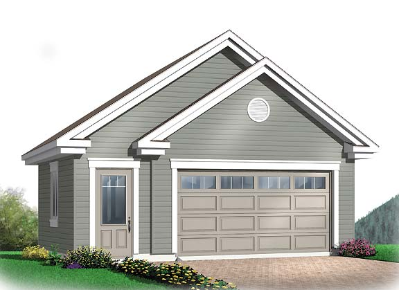 Interesting two car garage with gables for Gable garage plans