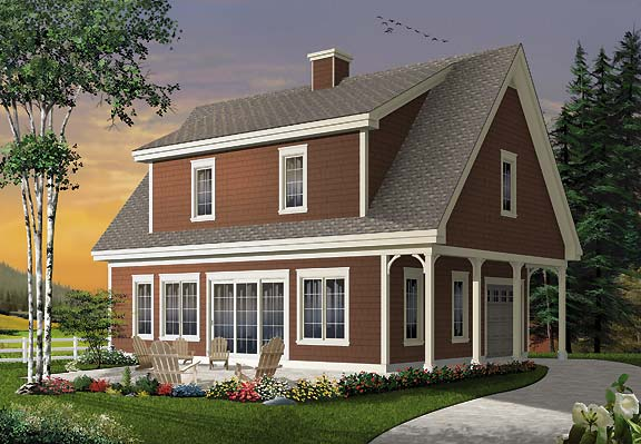 Three Bedroom House Plan Is Modest