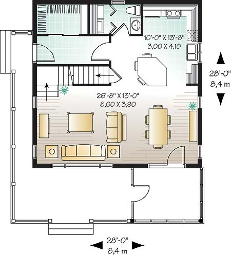 Three bedroom cottage with screened porch for Rivendell cottage house plans