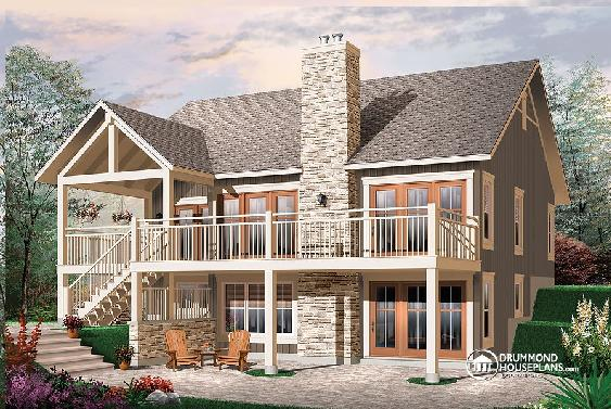 Two Bedroom House Plan With Fireplace