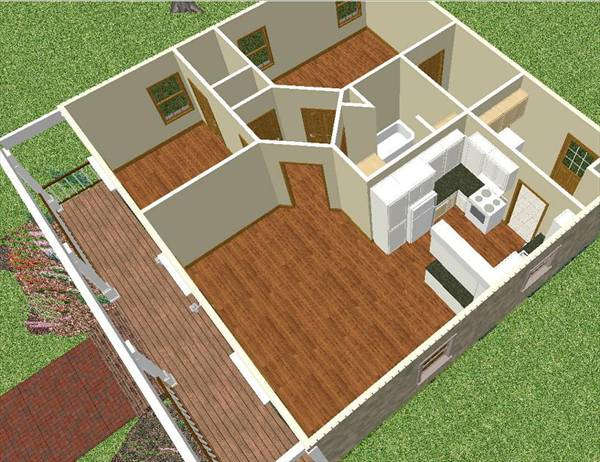 Retreat ii 6516 2 bedrooms and 1 5 baths the house for Diseno de oficinas pequenas planos