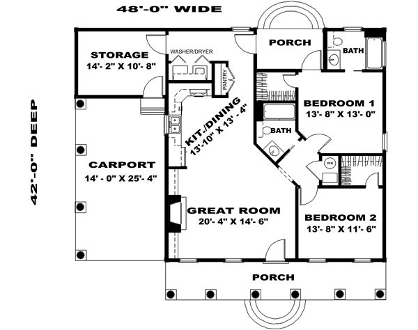 Floor Plan image of The Wildwood Plan