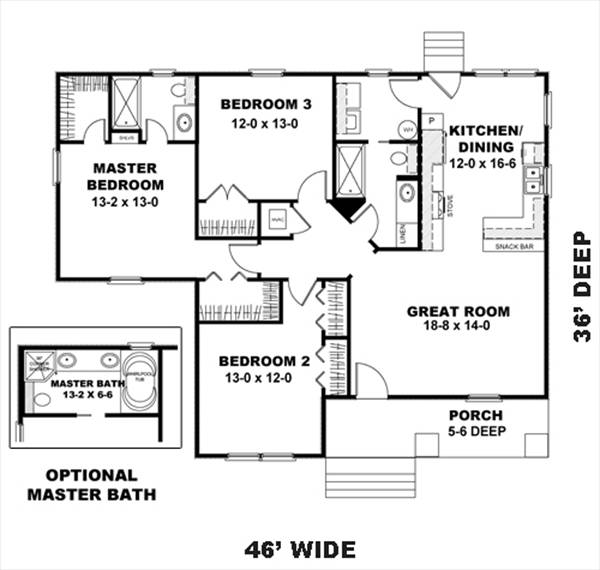 Floor Plan image of The Holly House Plan