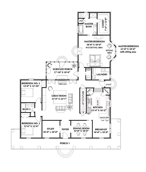 Floor Plan image of The Mayfair House Plan