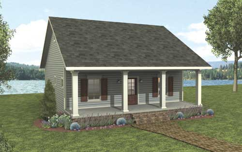 Tiny Home Designs: Red Creek Cottage 3147 - 2 Bedrooms And 1.5 Baths