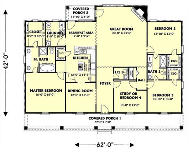 the southern spirit 5725 - 4 bedrooms and 2 baths | the house