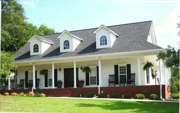Single Floor Country House Plans: The Mayberry 5678 - 3 Bedrooms And 2 Baths