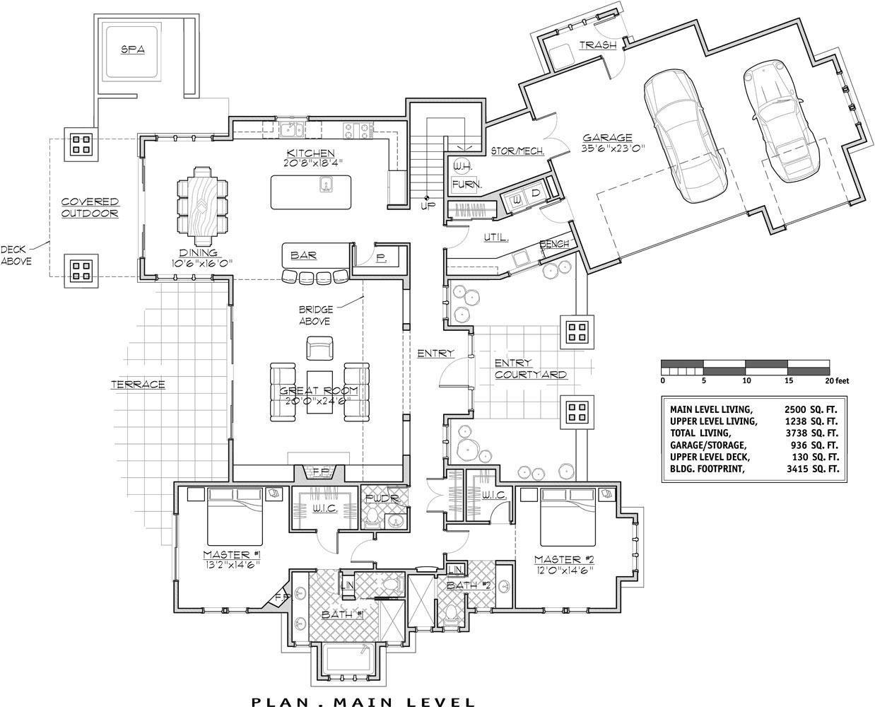 Luxury Lakehouse 9046 4 Bedrooms and 4 Baths – Luxury Estate Home Floor Plans
