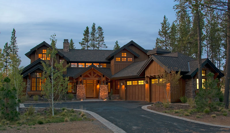 Luxury lakehouse 9046 4 bedrooms and 4 baths the house for Luxury mountain home floor plans