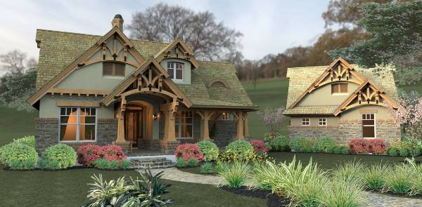 Merveille vivante small 2259 3 bedrooms and 2 5 baths for Storybook craftsman house plans
