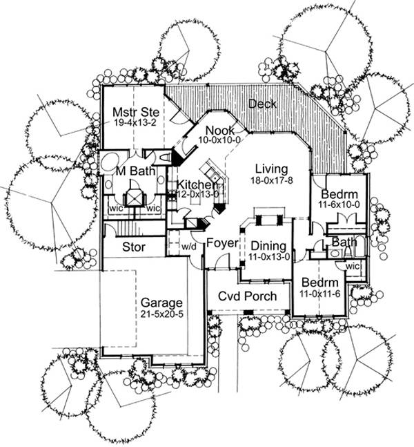 First Floor Plan image of The Albany House Plan