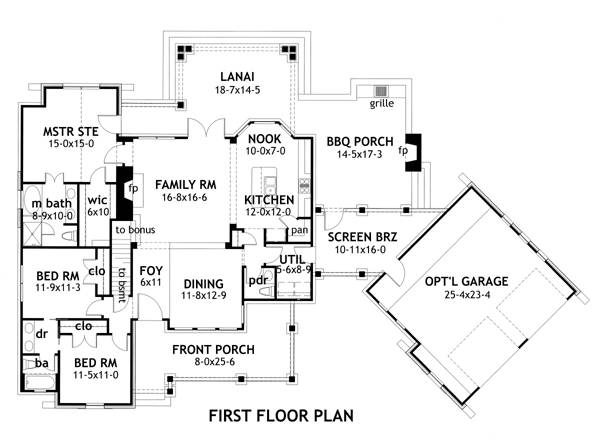 breezeway garage house plan find house plans