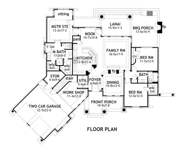 First Floor Plan image of Vita Encantata House Plan