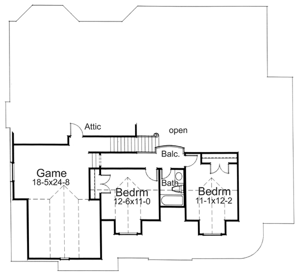 Alternate Second Floor Plan