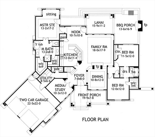 Craftsman house plan perfect for a growing family for Great house floor plans