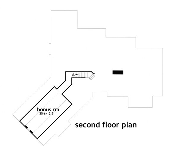 Second Floor Plan image of Montagna di Grazioso House Plan