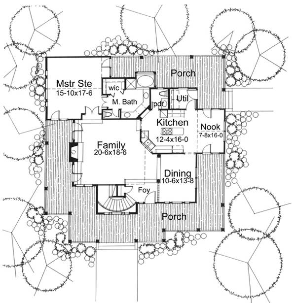 The Liberty Hill 5770 3 Bedrooms And 2 Baths The House Designers
