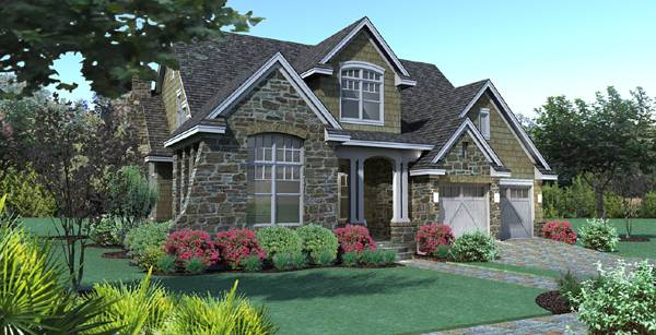 narrow lot house plans - Pie Shaped Lot Home Plans