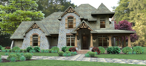 craftsman house plan, European house plan, two-story house plan