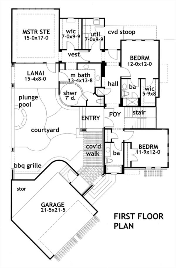 First Floor Plan image of Vista da Sopra House Plan