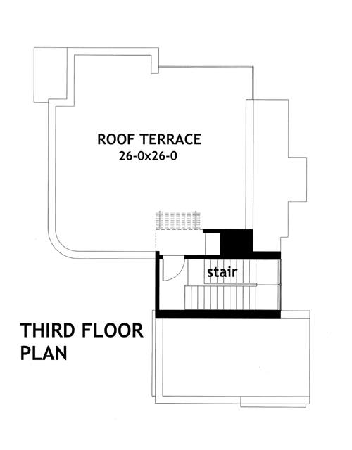 Third Floor Plan image of Vista da Sopra House Plan