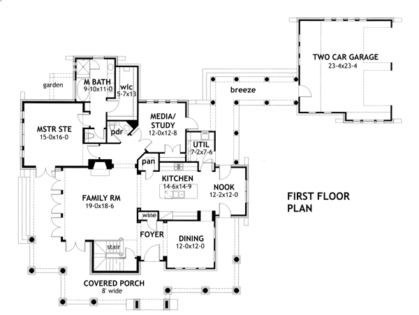 First Floor Plan image of Vida Carinosa House Plan