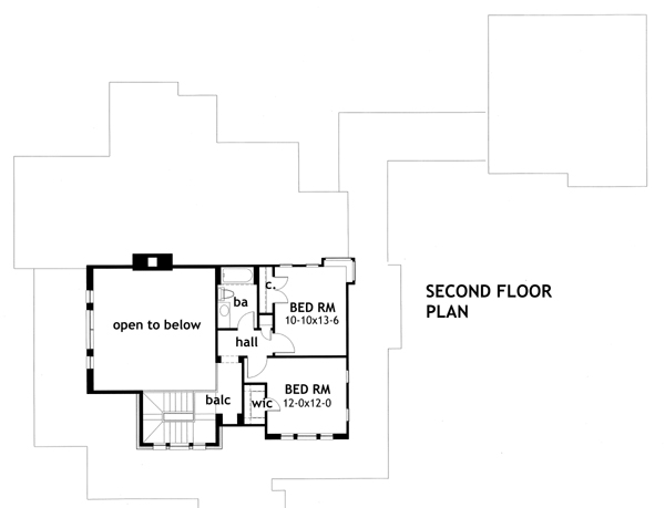 Second Floor Plan image of Vida Carinosa House Plan