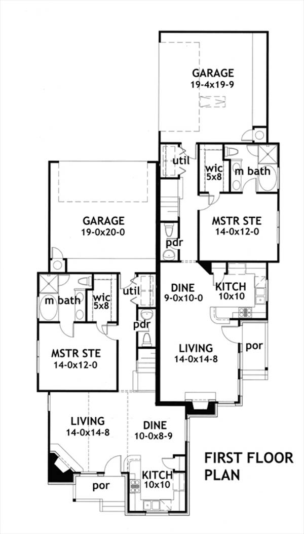 First Floor Plan image of Due Volte Casa House Plan