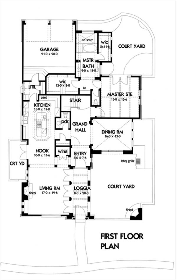 Villa montana 1898 3 bedrooms and 3 baths the house for Commercial building plans free