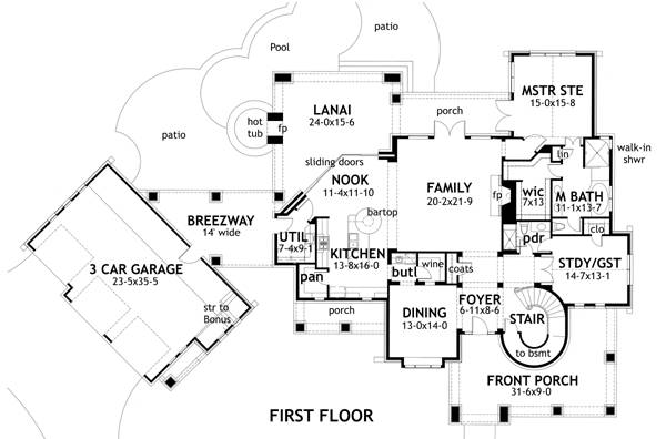 First Floor Plan image of L'Bella Liza House Plan