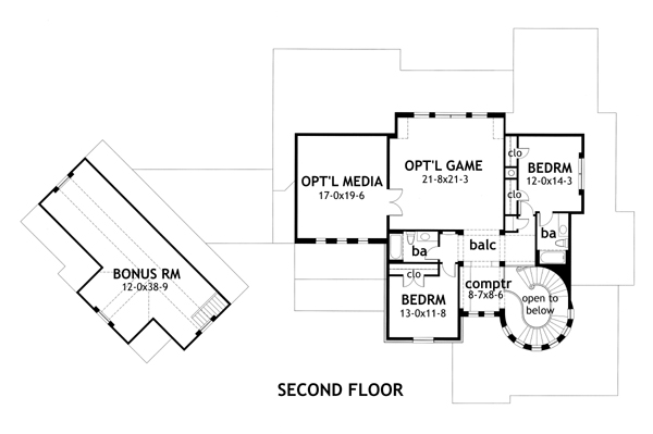Second Floor Plan image of L'Bella Liza House Plan