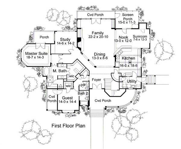 First Floor Plan image of The Meridian