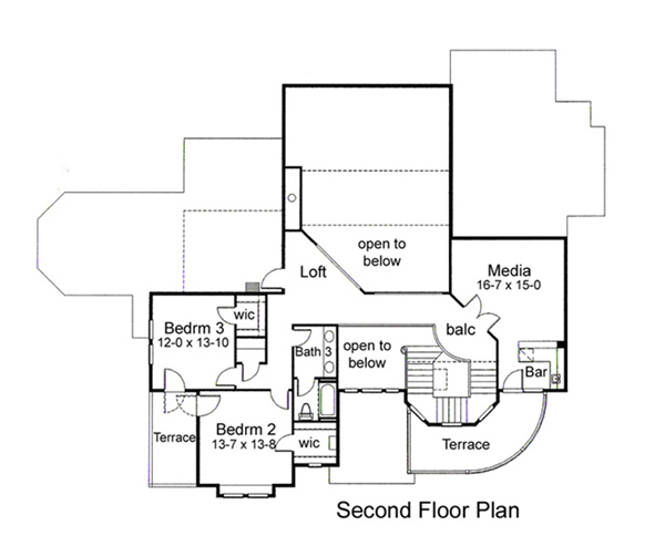 Second Floor Plan image of The Meridian