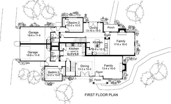 First Floor Plan image of The Quinlan House Plan