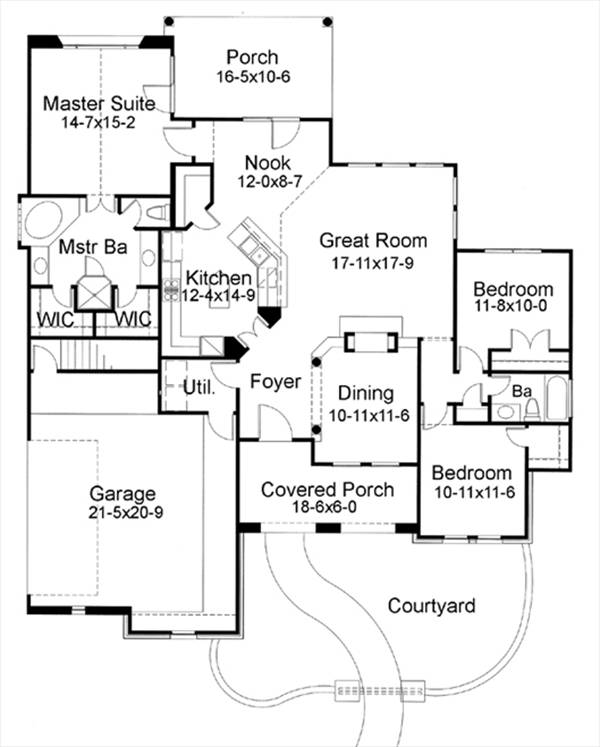 The San Saba 6755 - 3 Bedrooms and 2.5 Baths | The House Designers The Designer House Plan Thd Exb on