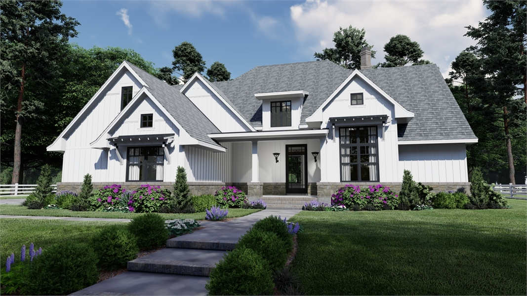 Modern Farmhouse Plan 7218, the Pine Meadow.