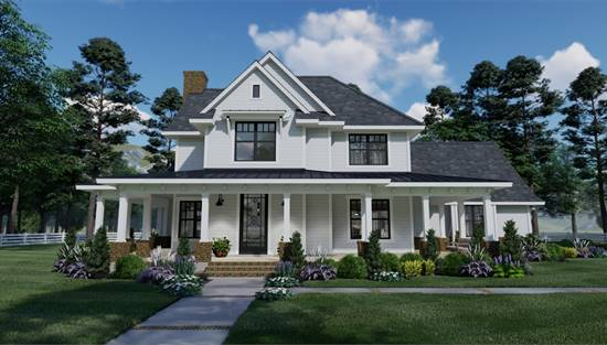 image of Spring Creek Farm House Plan
